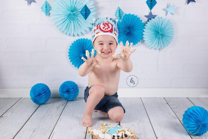 sesión de cumpleaños con tarta